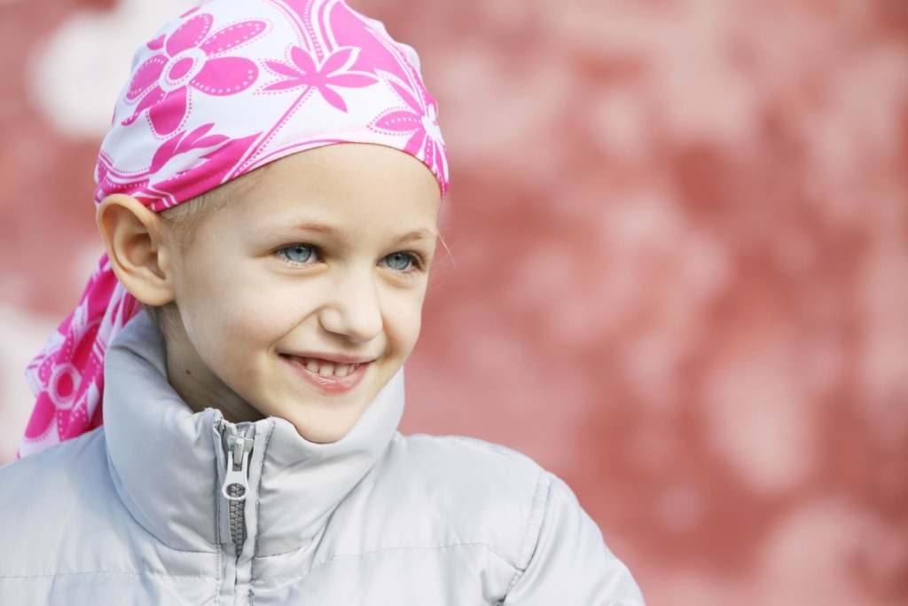 child with pediatric brain cancer