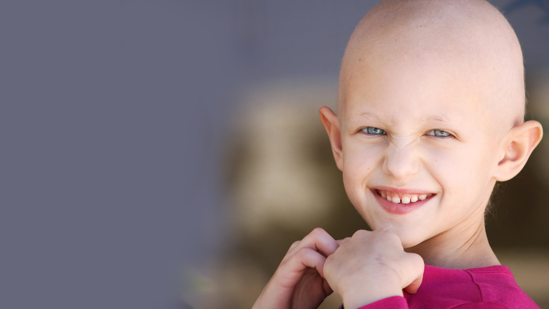 child with pediatric brain cancer