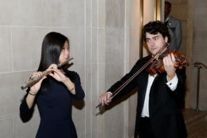 Ms. Melissa Cheng and Mr. Adam Kramer, flutist and violist at Mannes School of Music